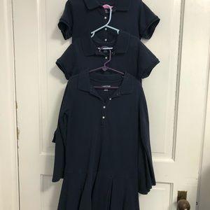 Three Lands End Uniform Polo Dresses